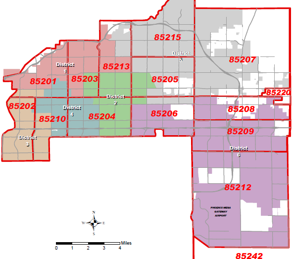 Zip Code Mesa Az Map | Zip Code MAP
